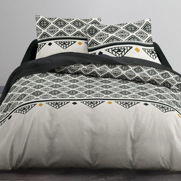 Parure de lit - Housse de couette 100% Coton 57 fils Enjoy Ethnique Chichi - taille:240 x 260 cm