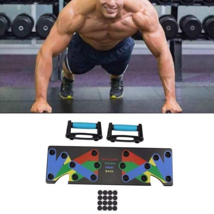 VV27461-ROKOO 9 En 1 Poignées de Traction Push up Sport Fitness Musculation Pectoral Latissimus Bras épaules Gym