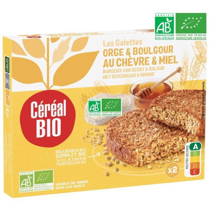 CEREAL BIO Galettes de céréales cuisinées à base d'orge, boulghour, fromage de chèvre et de miel Bio - 200 g
