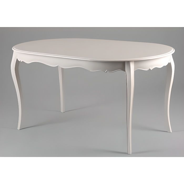 table ovale blanc patin 150x90 murano shabby chic amadeus. Black Bedroom Furniture Sets. Home Design Ideas