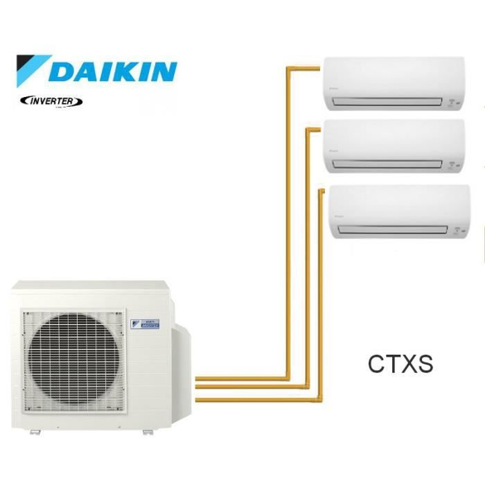daikin trisplit inverter reversible 3mxs40k 3 achat. Black Bedroom Furniture Sets. Home Design Ideas