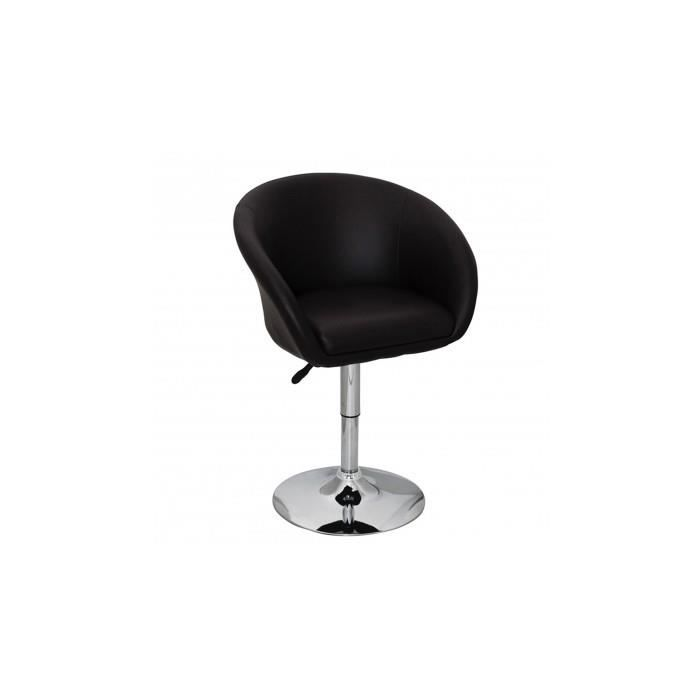 fauteuil rond pivotant all achat vente fauteuil marron cdiscount. Black Bedroom Furniture Sets. Home Design Ideas
