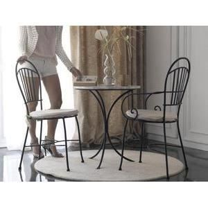 table bistrot ibiza plateau en marbre blanc achat vente table a manger seule table bistrot. Black Bedroom Furniture Sets. Home Design Ideas
