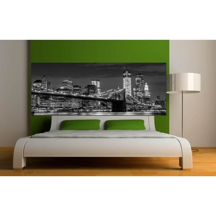 stickers t te de lit d co chambre new york dimensions 100x39cm achat vente stickers. Black Bedroom Furniture Sets. Home Design Ideas