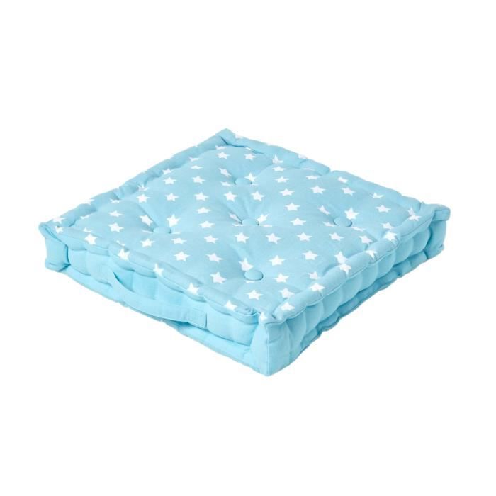 coussin de sol bleu toiles 40 x 40 cm achat vente coussin cdiscount. Black Bedroom Furniture Sets. Home Design Ideas
