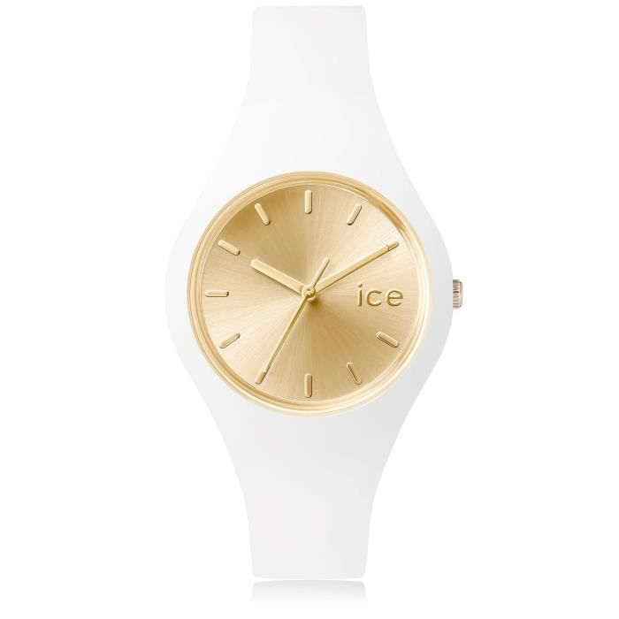 e39b8253ed362 Ice-Watch - ICE chic White Gold - Montre blanche pour femme avec bracelet  en silicone - 001395 (Small)