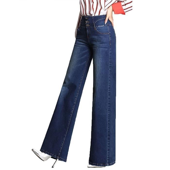 femme jean bootcut taille haute push up pantalons en denim bleu evas e jambe large confortable. Black Bedroom Furniture Sets. Home Design Ideas