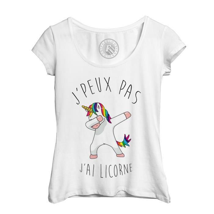 T-SHIRT T-Shirt Femme J'Peux Pas J'Ai Licorne Humour Dessi