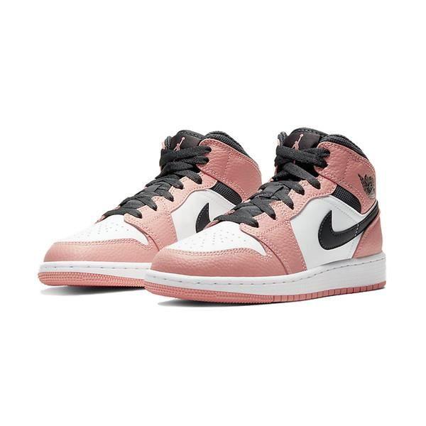 Air Jordan 1 Mid Femme Jordans One Pink Quartz Chaussures de ...