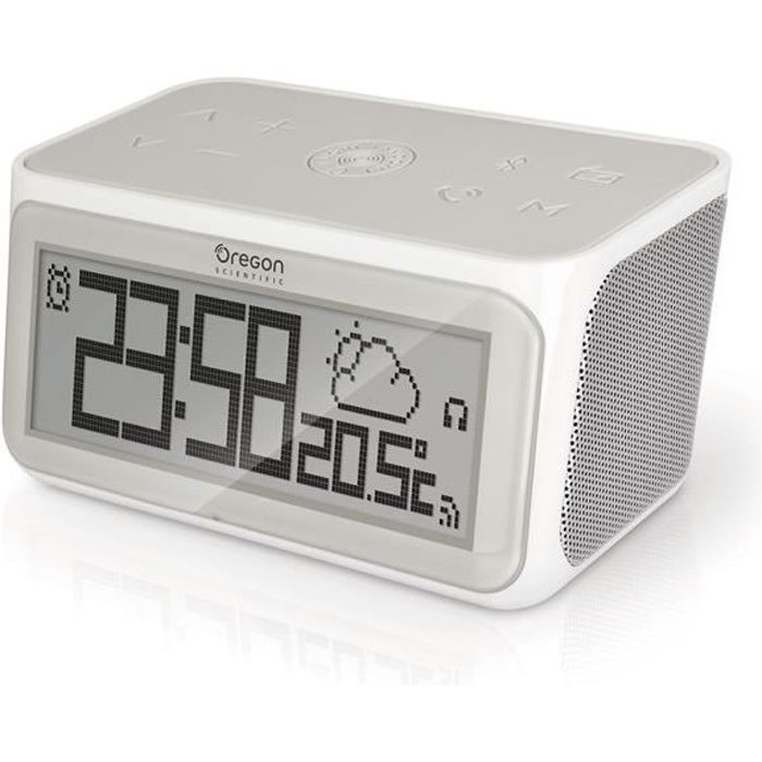 Radio réveil Oregon Scientific - Radio Réveil Connecté Haut-par