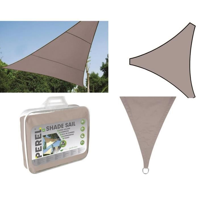 STORE - STORE BANNE  VOILE SOLAIRE GRIS TAUPE TRIANGULAIRE 3.6m