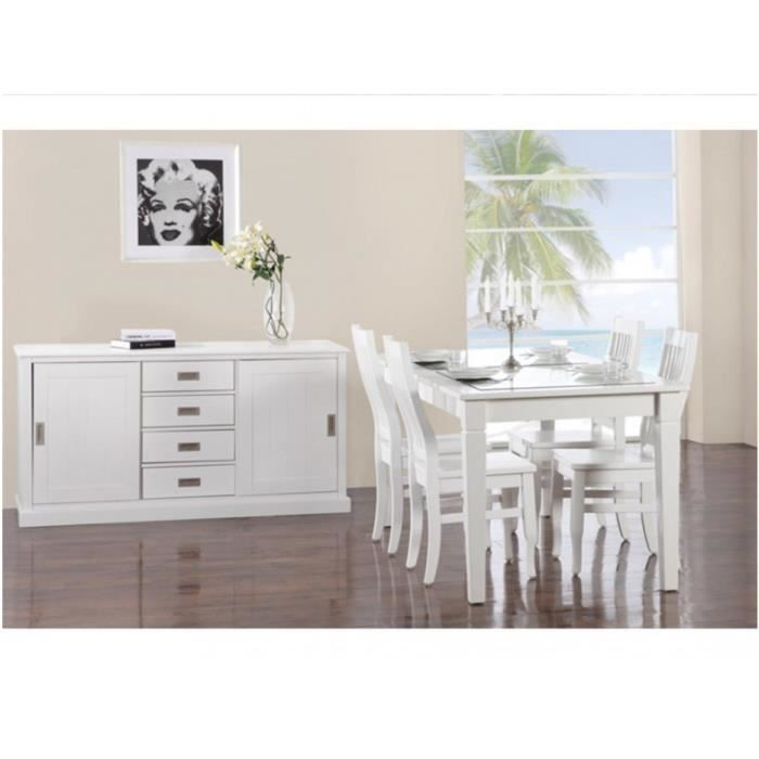 pack meubles guerande buffet table et 4 chaises pin blanc achat vente salle manger. Black Bedroom Furniture Sets. Home Design Ideas
