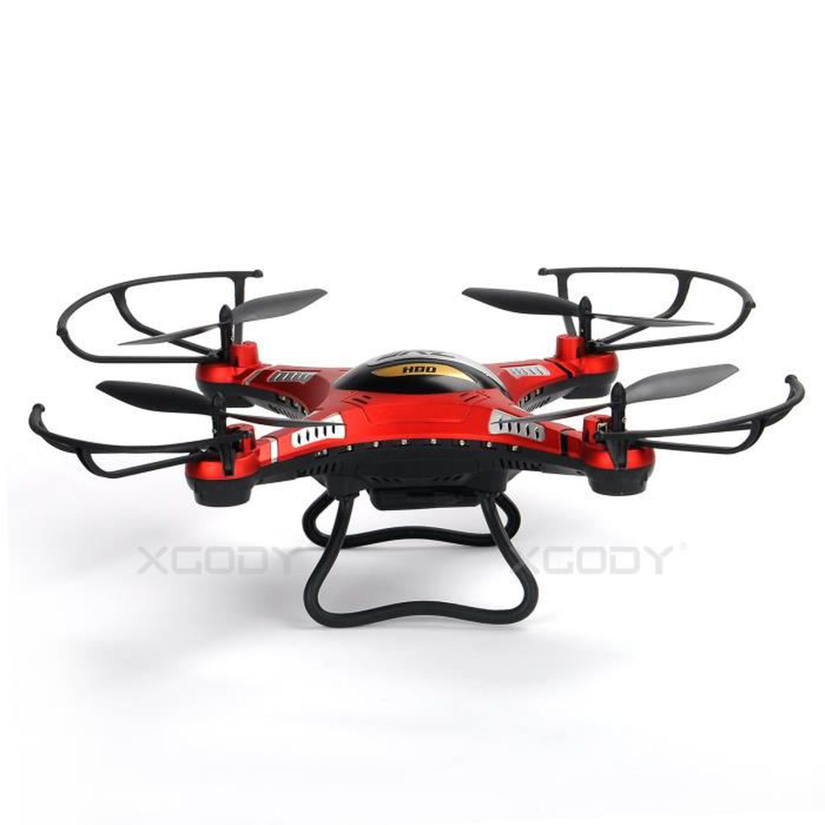 drone xgody jjrc h8dh quadcopter drone avec camera 2mp hd led fpv monitor rouge achat vente. Black Bedroom Furniture Sets. Home Design Ideas