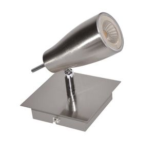 Spot LED en nickel satiné - 10 x 10 cm
