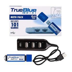 ADAPTATEUR MANETTE  True Blue Mini Pack Meth 64 Go Intégré 101 jeux p