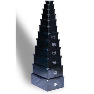 BOITE DE RANGEMENT Lot de 12 boites de rangement Noir