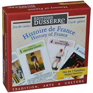 CARTES DE JEU Jeu des 7 Familles : Histoire de France -  42 cart