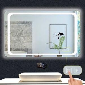 PORTE DE DOUCHE Miroir de salle de bain 100x60cm anti-buée miroir