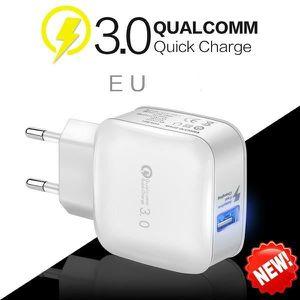 CHARGEUR TÉLÉPHONE Charge rapide 3.0 adaptateur chargeur mural USB Po