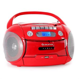 RADIO CD CASSETTE auna - Boombox ghettoblaster portable avec lecteur