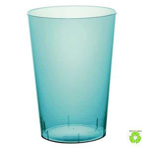 VERRE JETABLE 20 Gobelets plastique turquoise 20 cl
