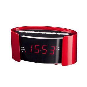 Radio réveil CLIPSONIC AR306R Radio-réveil FM PLL - Rouge