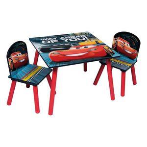 TABLE ET CHAISE CARS 3 Table et 2 chaises enfant en bois MDF