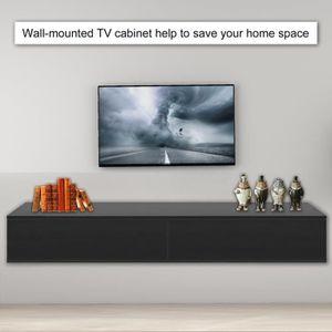 Meuble Tv Design Suspendu Vito 180 Noir Et Blanc Achat