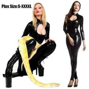 ENSEMBLE DE LINGERIE Plus la Taille Femmes Sexy Lingerie Latex PU Combi