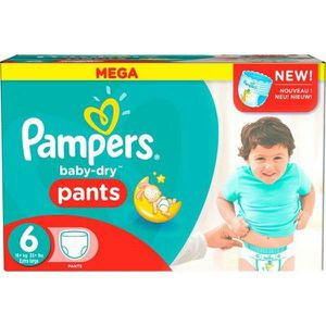 COUCHE 70 Couches Pampers Baby Dry Pants taille 6