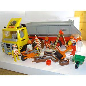 UNIVERS MINIATURE PLAYMOBIL 3141 camion benne avec nombreux personna