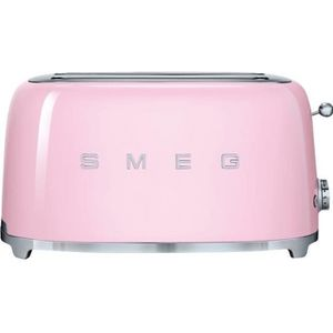 GRILLE-PAIN - TOASTER Grille-pain 4 fentes Smeg TSF02PKEU rose
