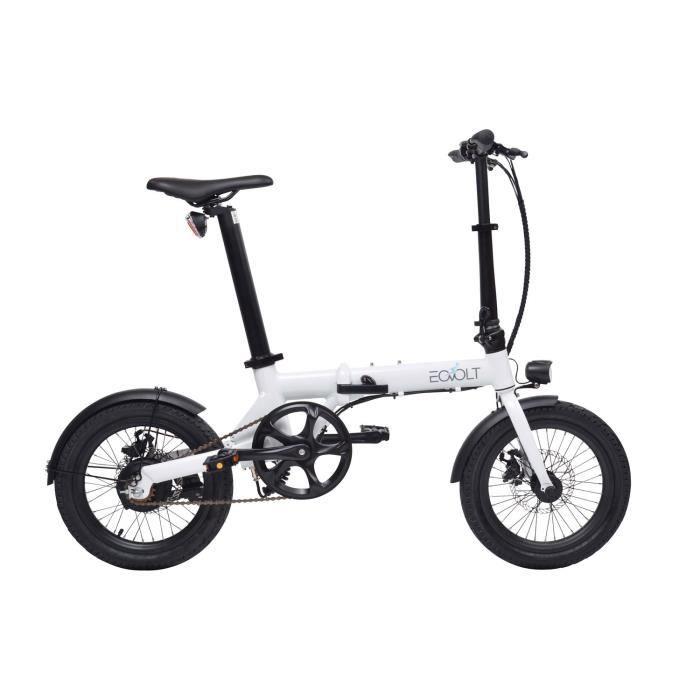 EOVOLT Vélo à assistance électrique pliant 16- - Blanc City