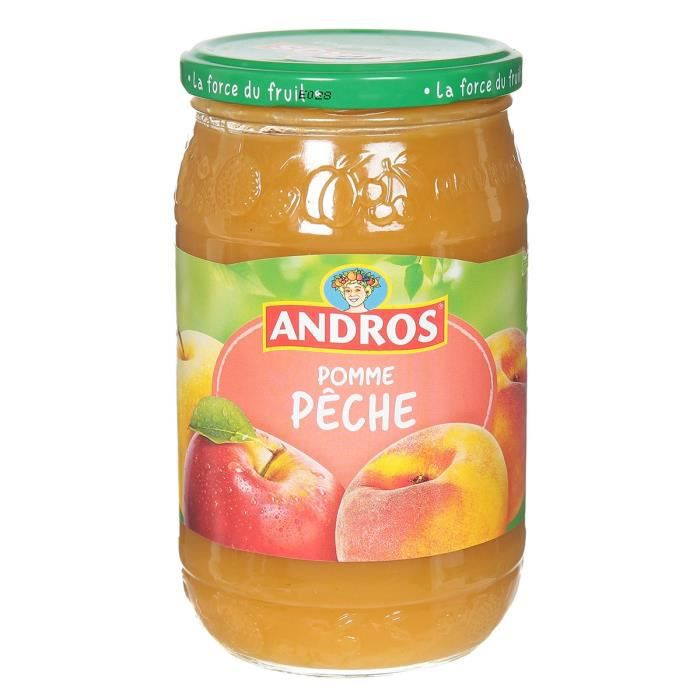 ANDROS Compote pomme - pêche - 730 g