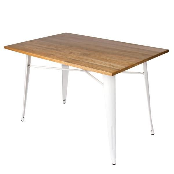 Table lank wood blanche 120 x 80 cm Multicolor