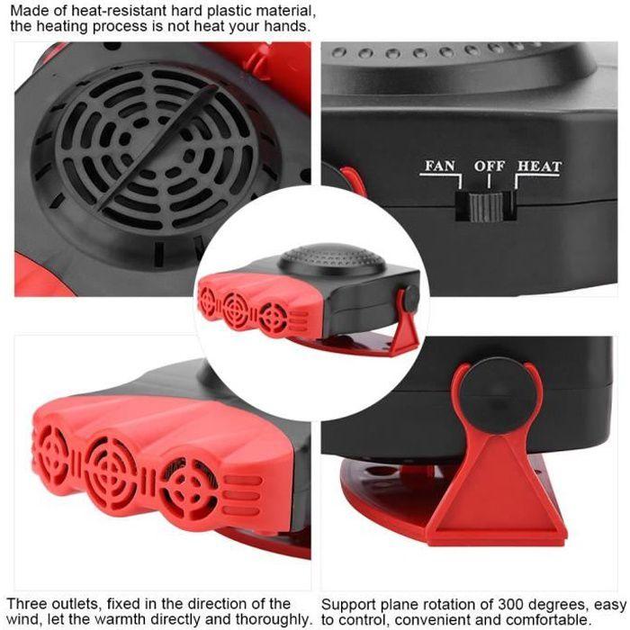 Dégivreur de pare-brise de ventilateur de chauffage voiture chauffage de véhicule de 12V 150W 2 en 1 -GAR