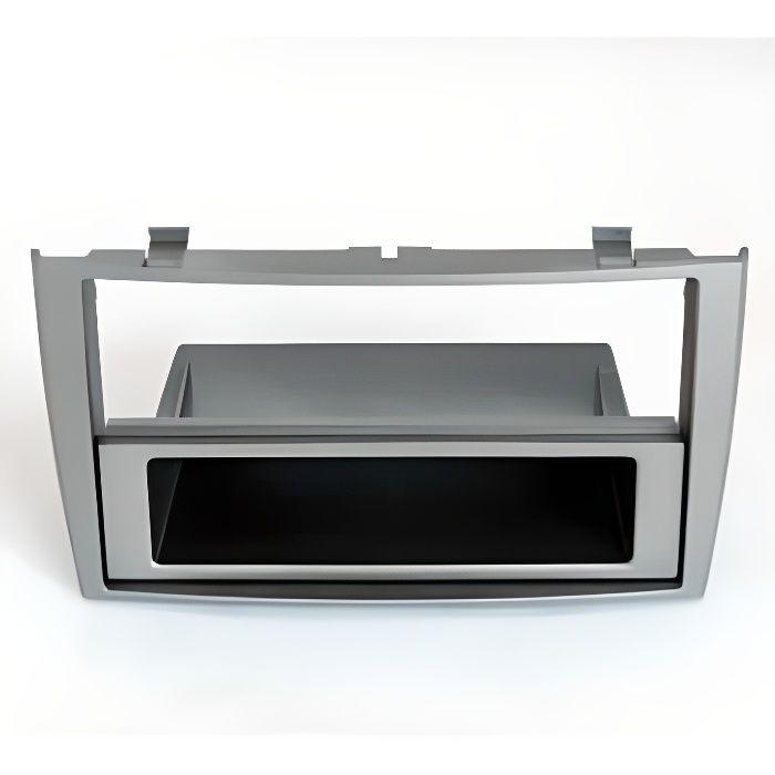 Adaptateur de façade d'autoradio simple DIN gris argent Peugeot 308 2007 >