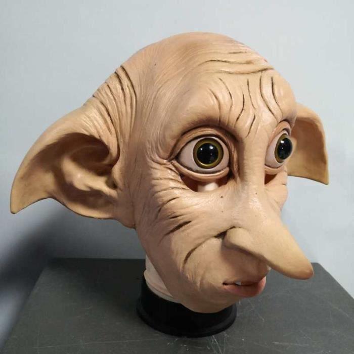 Masque Cosplay en Latex Dobby Elfin, accessoires de déguisement de carnaval d'halloween Style Animal