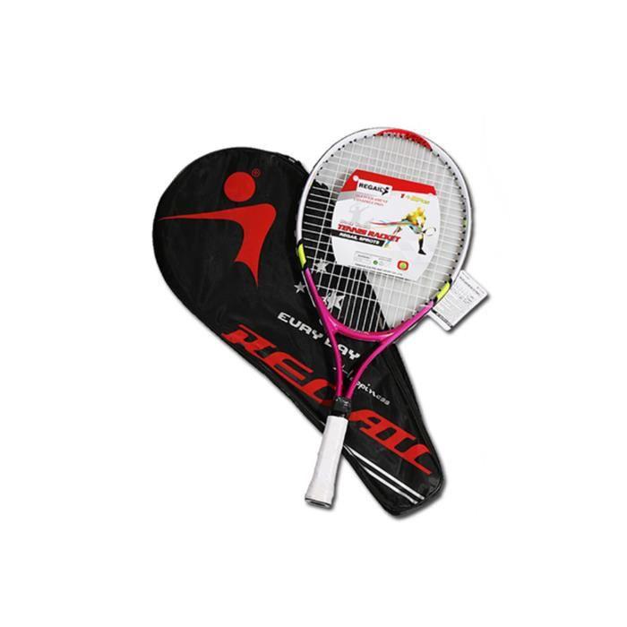 Raquette de tennis pour l'entraînement et la pratique, raquette pour enfants 2pcs rouge