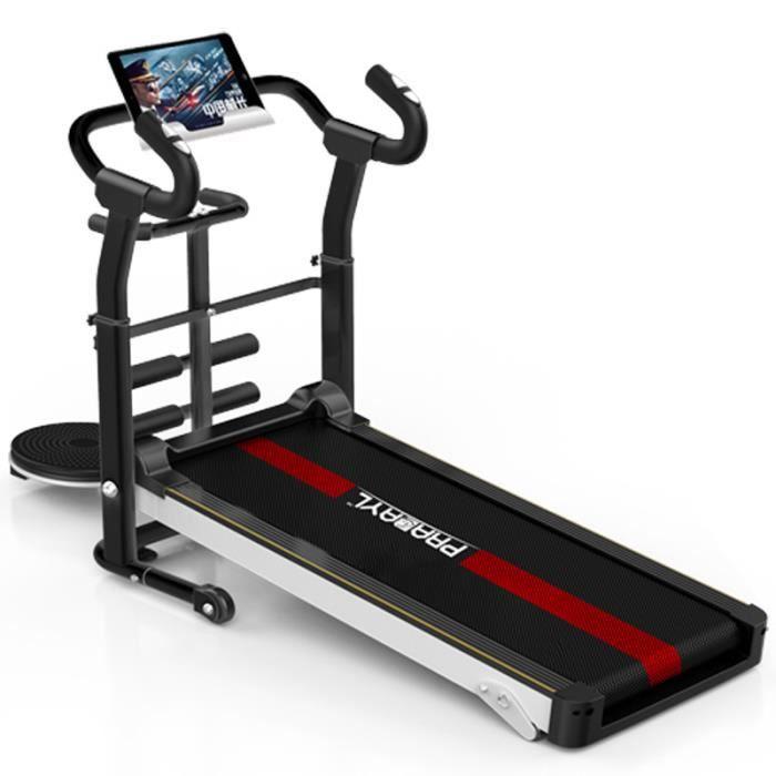 Petit tapis roulant de fitness intérieur multifonctionnel marche silencieuse machine de pliage de fitness équipement d'exercice tapi