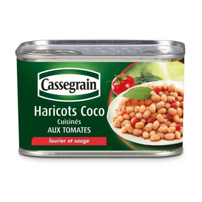 Cassegrain Haricots Coco Cuisinés aux Tomates Laurier et Sauge 435g (lot de 5)