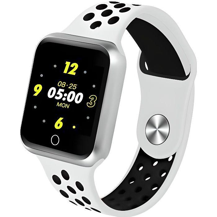 Montre connectée sport X-Fit - Bluetooth - IP67 - cardiofréquencemètre - multisport - Blanc - Cellys