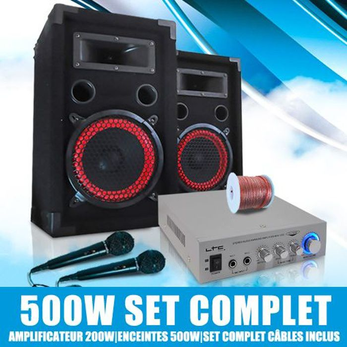 Pack karaoke DJ sono ampli enceintes micro set kit