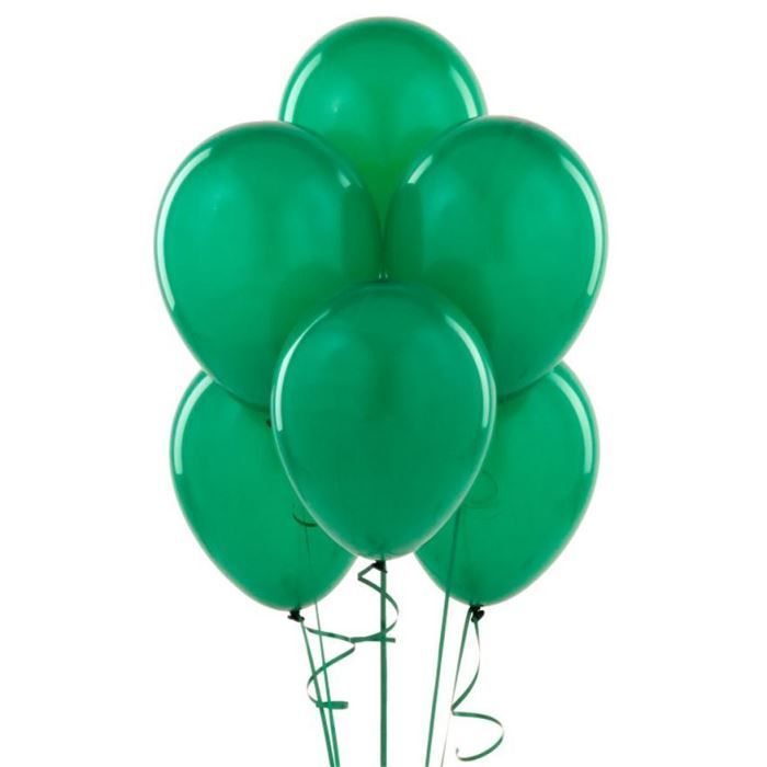 Ballons verts 100 ballons