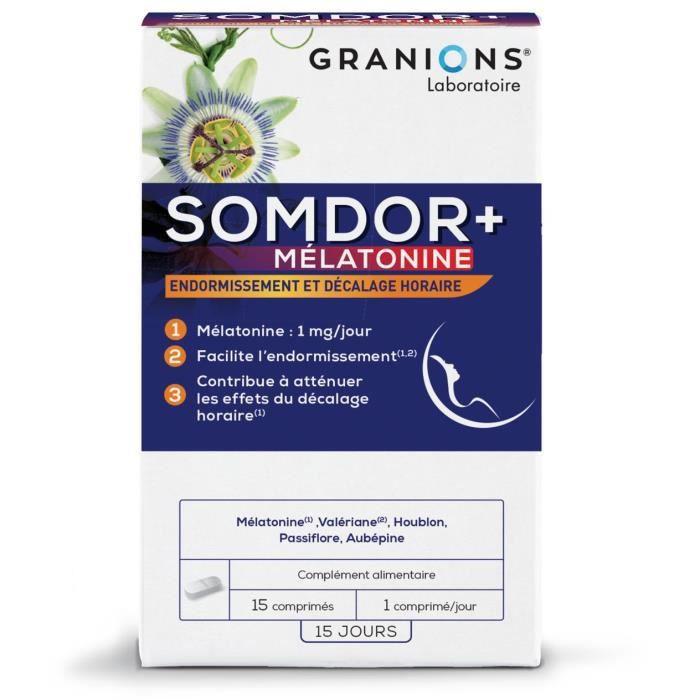 GRANIONS® SOMDOR+ MÉLATONINE (BTE 15 COMPRIMÉS)