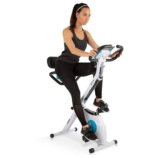 Capital Sports Azura Plus Vélo d'appartement pour exervices de cardio training - Réglable en 2 positions - Support tablette - Blanc