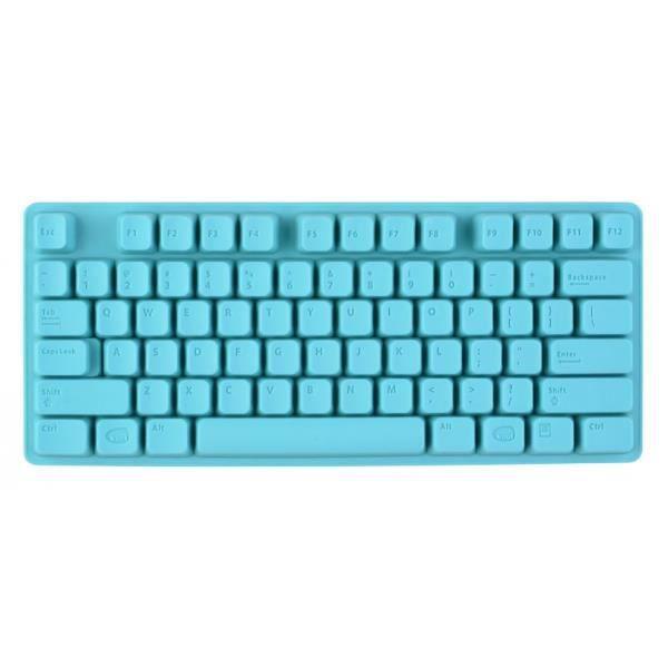 La Chaise Longue 34-1K-002 Moule à glaçons Clavier iClavier Bleu turquoise Silicone H2 x 10 x 24,5 cm