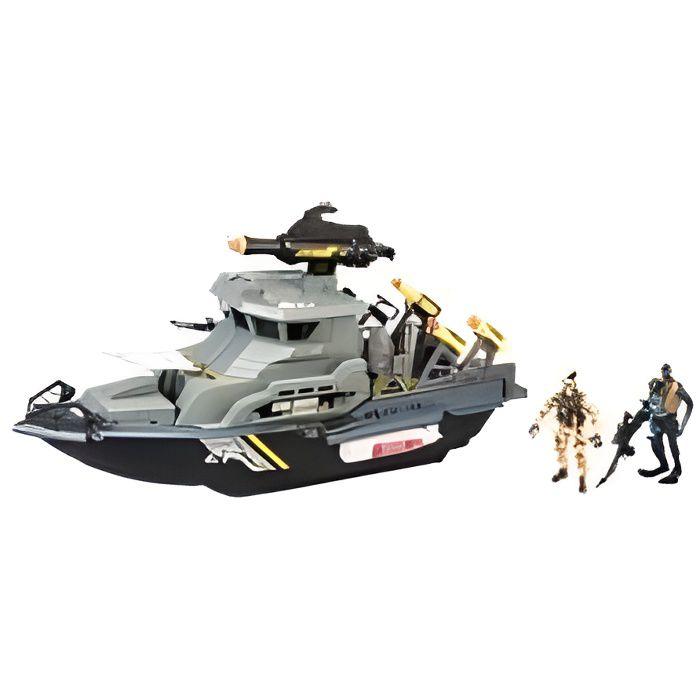 Logitoys Navire de guerre avec missiles