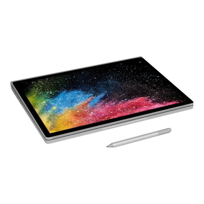 Microsoft Surface Book 2 Tablette avec clavier détachable Core i7 8650U 1.9 Ghz Windows 10 Pro Creators Update 64 bits 1 Hnq 00004