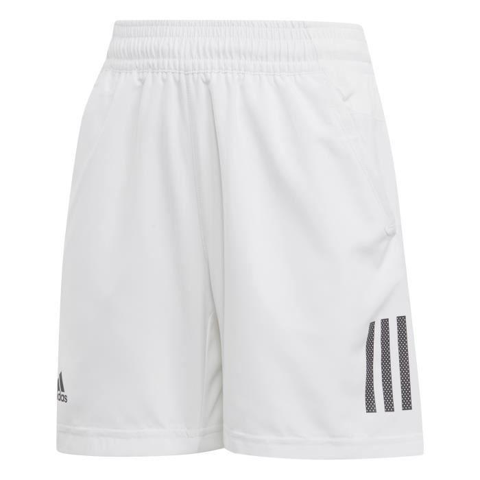 ADIDAS Short de tennis B Club 3S - Blanc - Garçon